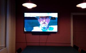 Ny fladskærm til Svanekes Rådhus